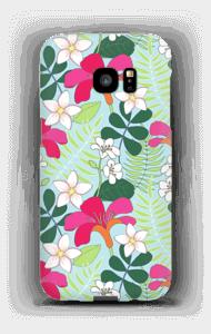 Tropical Flowers case Galaxy S7 Edge