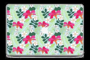 """Tropical Flowers Skin MacBook Pro 17"""" -2015"""