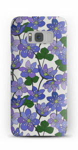 Blue Flowers case Galaxy S8