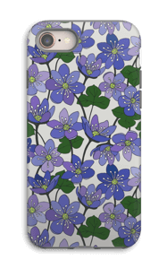 Blue Flowers case IPhone 8 tough