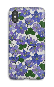 Blue Flowers case IPhone X