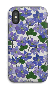 Anemone hepatica cover IPhone X tough