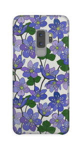 Blåsippor skal Galaxy S9 Plus