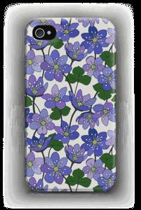 Sinivuokot kuoret IPhone 4/4s