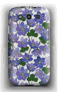 Blue Flowers case Galaxy S3