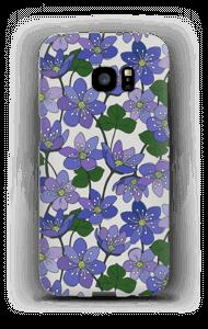 Blue Flowers case Galaxy S7 Edge