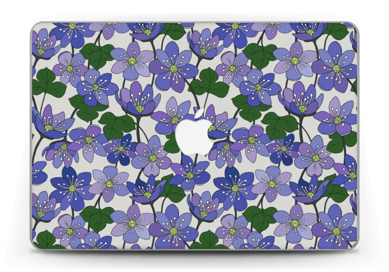 "Fleurs violettes Skin MacBook Pro Retina 13"" 2015"