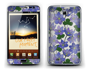 Blue flowers Skin Galaxy Note