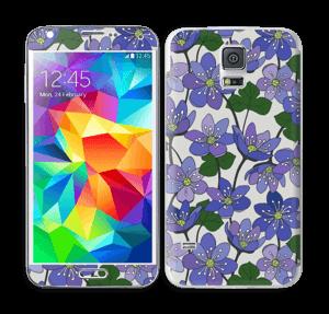 Fleurs violettes Skin Galaxy S5