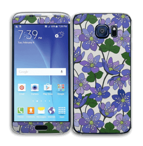 Fleurs violettes Skin Galaxy S6