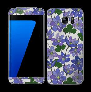 Fleurs violettes Skin Galaxy S7 Edge