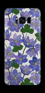 Blue flowers  Skin Galaxy S8