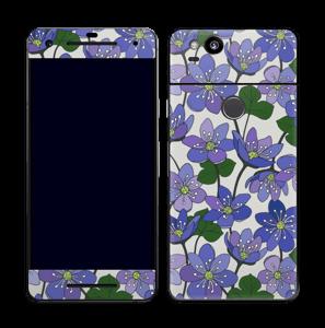 Fleurs violettes Skin Pixel 2