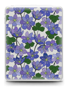 Fleurs violettes Skin IPad 1