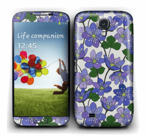 Blue flowers  Skin Galaxy S4