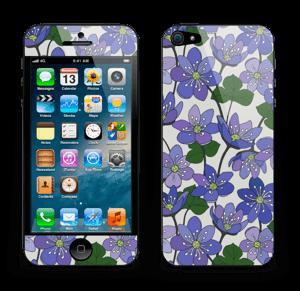 Fleurs violettes Skin IPhone 5