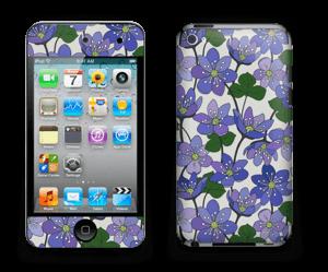 Fleurs violettes Skin IPod Touch 4th Gen