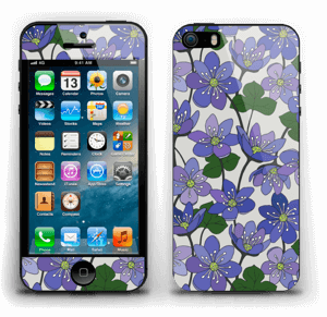 Blue flowers Skin IPhone 5s