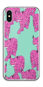 Lince rosa Skin IPhone X