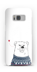 Polar Sweater Bear case Galaxy S8