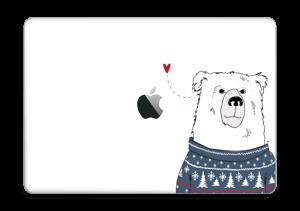 """Orso invernale in maglia lavorata a mano Skin MacBook Pro 13"""" 2016-"""