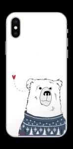 Orso invernale in maglia lavorata a mano Skin IPhone X