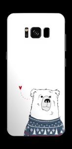 Orso invernale in maglia lavorata a mano Skin Galaxy S8