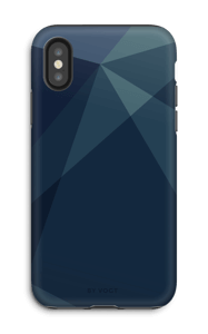 Blue case IPhone X tough