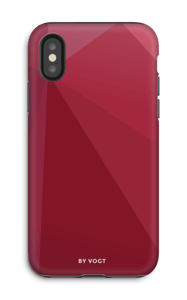 Red kuoret IPhone X tough