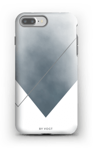 Silent silver deksel IPhone 7 Plus tough
