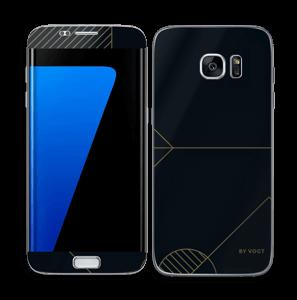 Black and Gold  Skin Galaxy S7 Edge