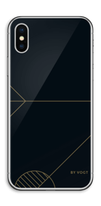 Black and Gold  Skin IPhone X