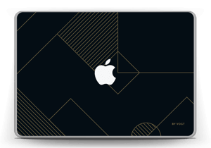 "Black and Gold  Skin MacBook Pro 13"" -2015"