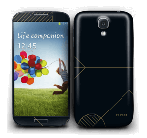 Black and Gold  Skin Galaxy S4