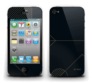 Black and Gold  Skin IPhone 4/4s