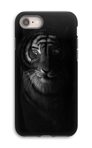 Tiger in the dark case IPhone 8 tough