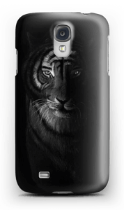 Tiger in the dark case Galaxy S4