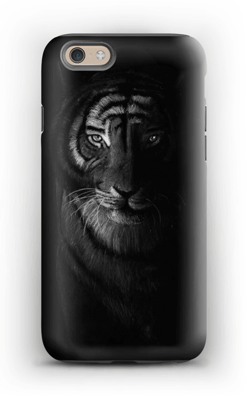Tiger in the dark case IPhone 6 tough