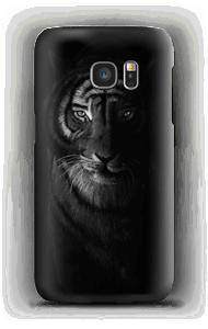 Tiger in der Dunkelheit Handyhülle Galaxy S7