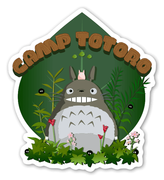 Camp totoro sticker