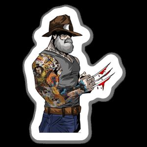 Tattooed Lumberjack sticker