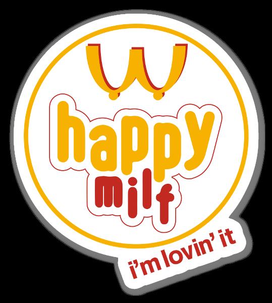 Happy milf sticker