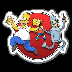 Homer Bender sticker