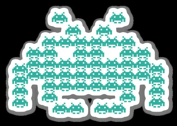 Invaders  sticker