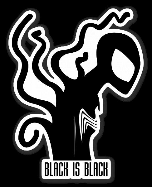 Black spiderman sticker