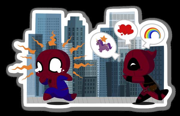 Spidey Deadpool  sticker