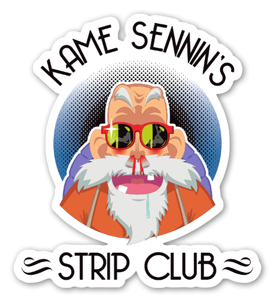 Kame sennins strip club sticker