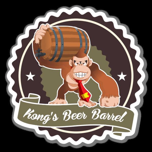 Donkey Kong Beer  sticker