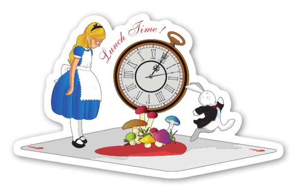 Alice Lunch Time  sticker