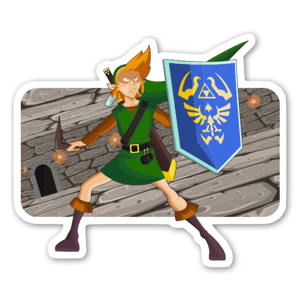 Link Boss Fight sticker